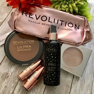Bundle Makeup Revolution Bronzer Lipsticks Strobe